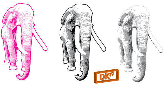 Three elephant free vector