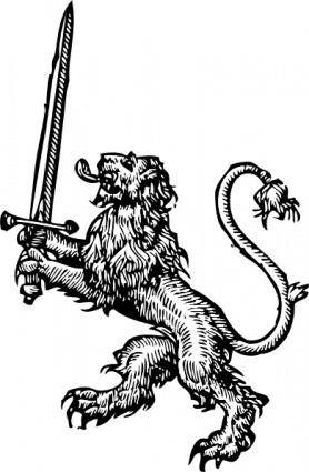 Lion With Sword clip art