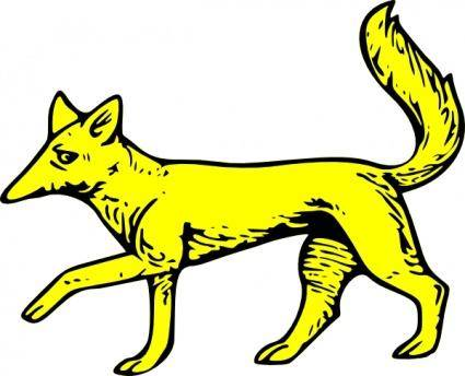 free vector Fox Passant clip art