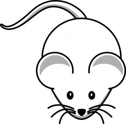 Simple Cartoon Mouse clip art