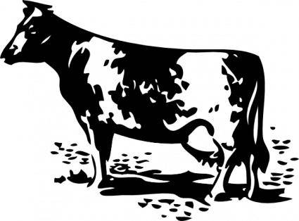 free vector Standing Cow clip art