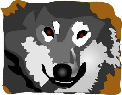 Siberian Huskey clip art