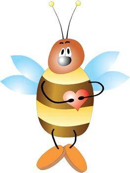 free vector Bee With Hear