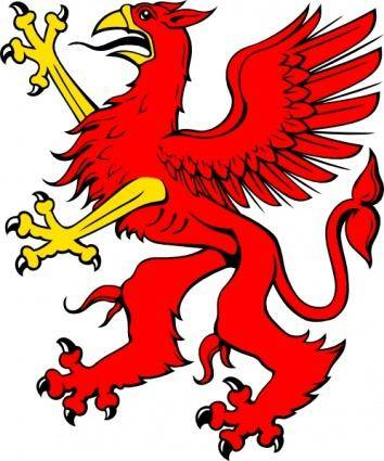 Red Griffin clip art 128226