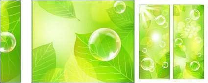 Vector fresh green background material