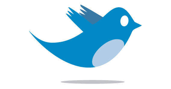 Blue Twitter bird logo free vector