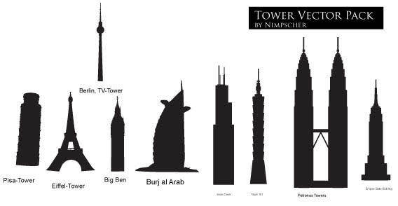 Tower free vector pack