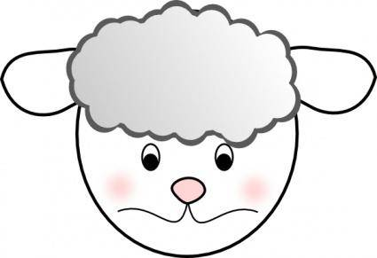 Sad Sheep clip art