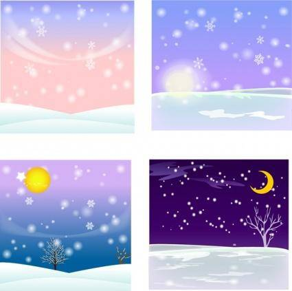 free vector Vector Snow Background