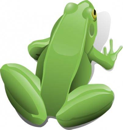 Sitting Frog clip art