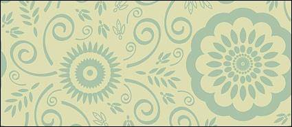 free vector Classical patterns background vector