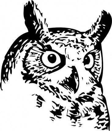 free vector Great Owl clip art