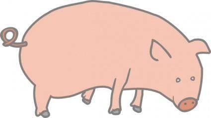 free vector Pig clip art