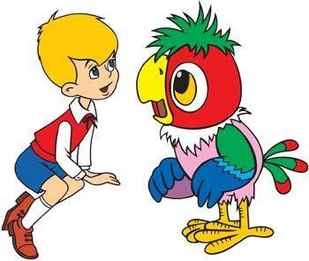 free vector Boy talking with bird
