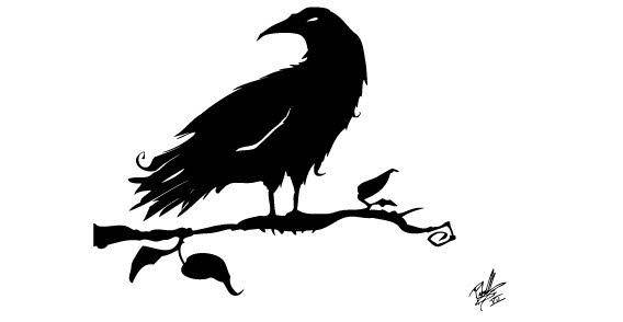 Black Crow free vector