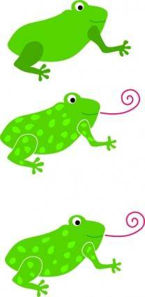free vector Frog Granota Grenouille clip art