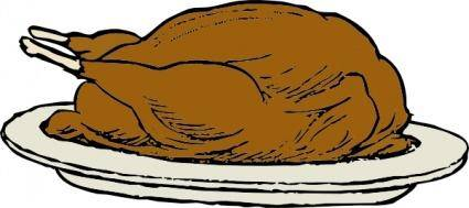 Turkey On A Platter clip art