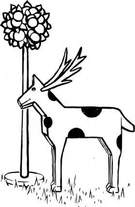 Toy Animal And Tree clip art