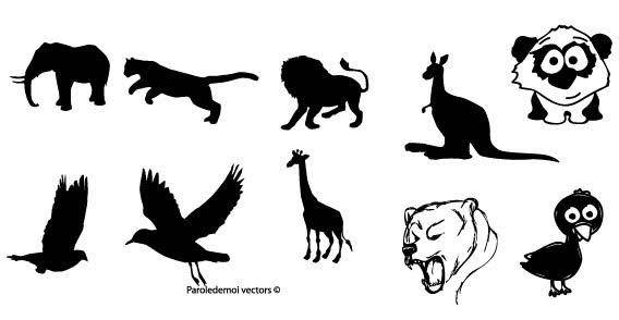 Zoo animals free vector