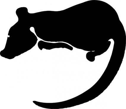 free vector Rat Silhouette clip art