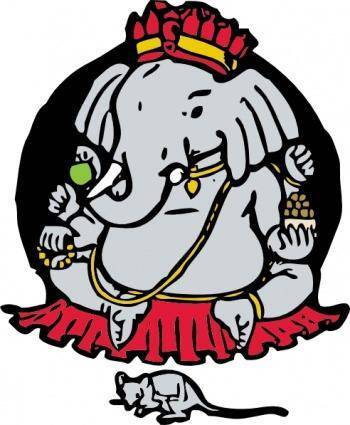 Elephant And Mouse clip art