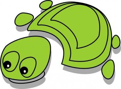 Green Tortoise Cartoon clip art