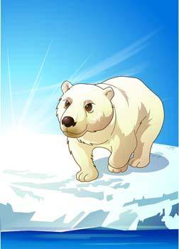 free vector Polar bear 5