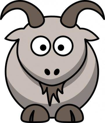 free vector Cartoon Goat clip art
