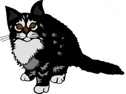 free vector Kitten Black clip art