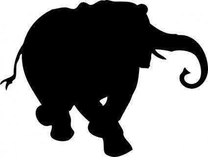 free vector Elephant Silhouette clip art