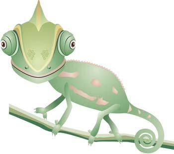 free vector Chameleon vector