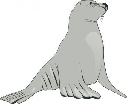 Sea Lion clip art 128433