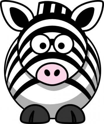 Studiofibonacci Cartoon Zebra clip art
