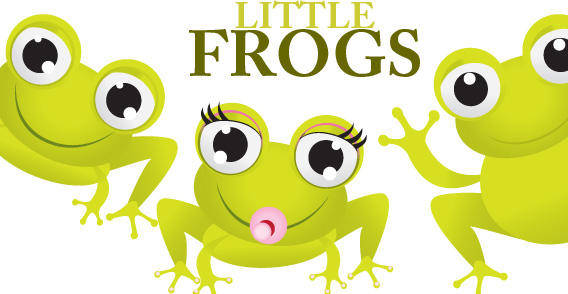 free vector Three Green Frogs