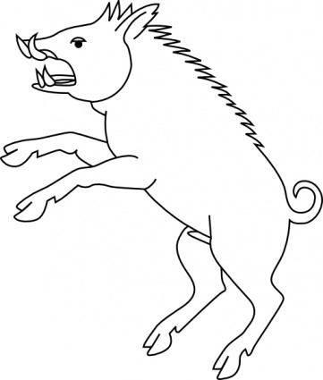 free vector Wild Boar clip art