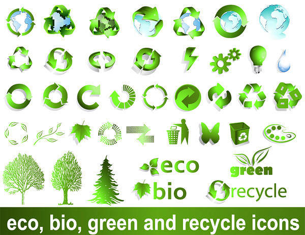 free vector Recyclable Material Sign Vector Green Environmental Protection Recyclable
