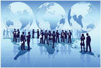 free vector Global business around the world