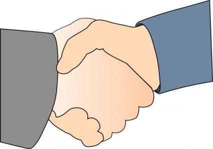 free vector Hands Shake clip art