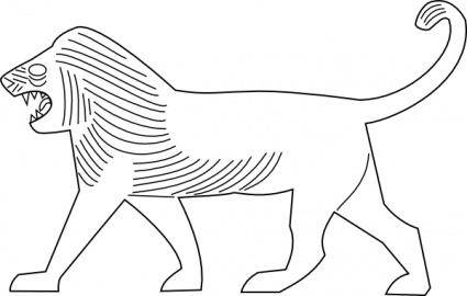 free vector Lion Outline clip art