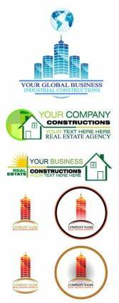 free vector Real Estate Construction Business Logos