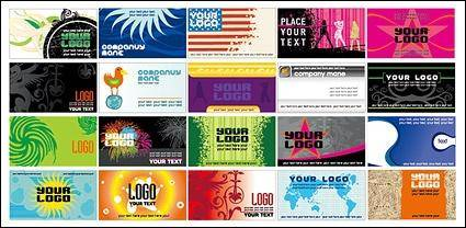 free vector European and American style of business card