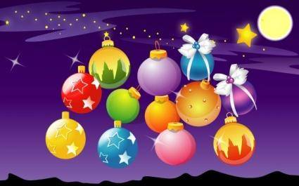 free vector Vector Christmas Ball