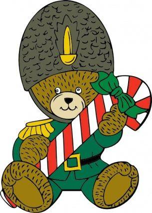 Christmas Guard Bear clip art