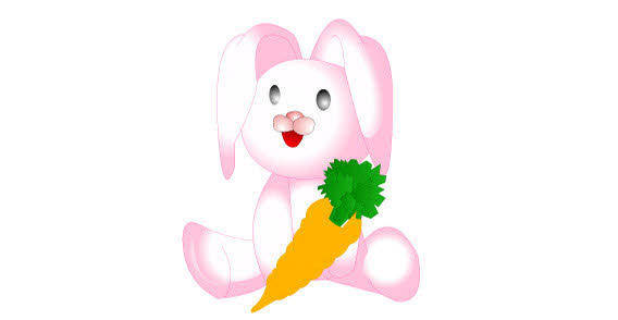 Cartoon rabit free vector