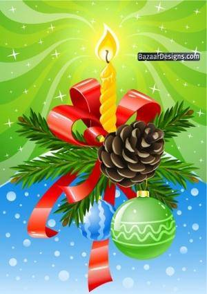 free vector Christmas composition