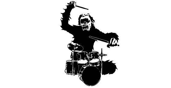 Drum monkey free vector