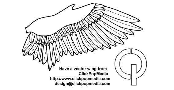 Bird wing free vector