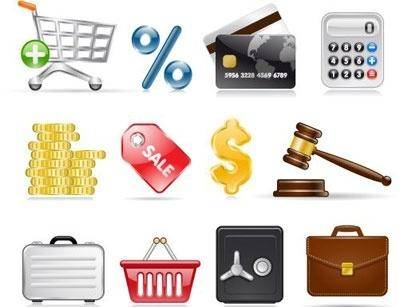 free vector Shopping and Business Icons