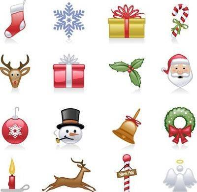 free vector Shiny holiday and Christmas icons
