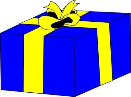 Blue Present clip art